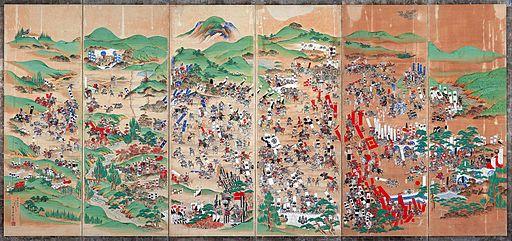 関ヶ原合戦図屏風(六曲一隻) 関ケ原町歴史民族資料館